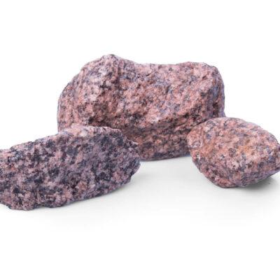 Gabionensteine günstig kaufen Granit Rot