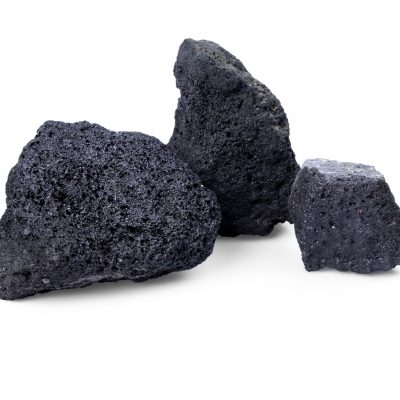 Lava schwarz Steine für Gabionen