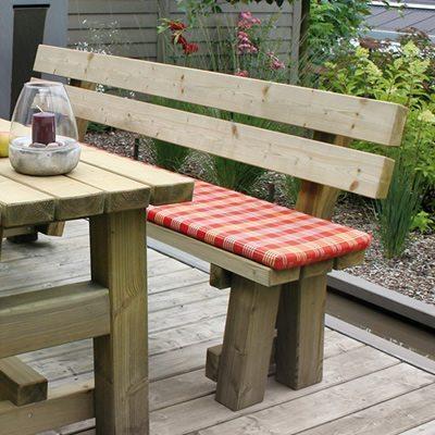 Gartenbank aus Holz Lenntal