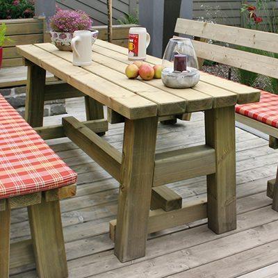 Holztisch Garten Tisch aus Holz Lennetal
