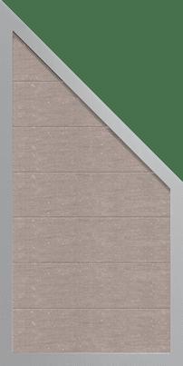 Wpc Sichtschutz Zaun Groja Mit Alurahmen Schrag Bi Color Weiss