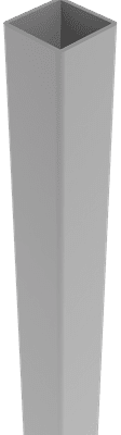 Alupfosten zum Aufdübeln silber Groja