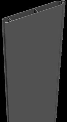 Aluminium Füllung Groja anthrazit