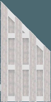 Fertigzaun Weiß Sichtschutz Groja Schrägelement