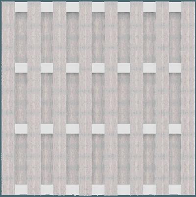Zaunelement Groja Solid Bpc Bi Color Weiss 180x180 Versandkostenfrei