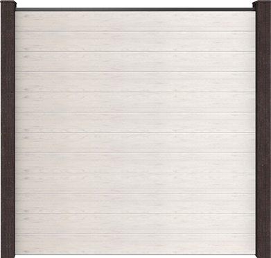 Sichtschutzwand GroJa Solid Steckzaun bi-color weiss