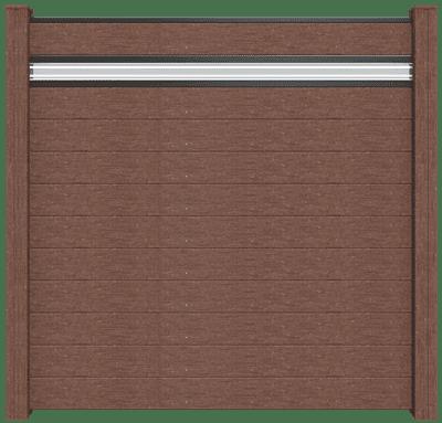 Steckzaun Groja Solid mit Galseinsatz terra