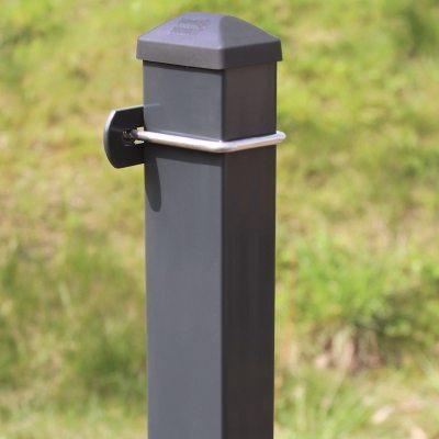 Metallpfosten Zaunpfosten mit U-Bügel