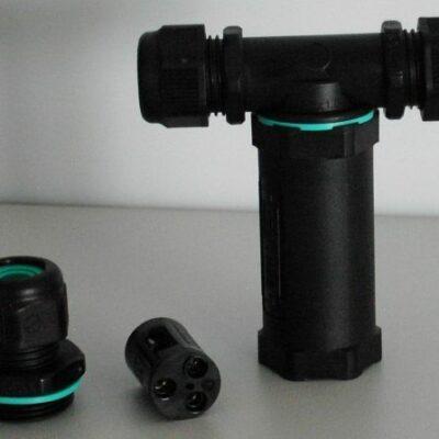 Kabelverbinder T-Stück 3-polig für Beleuchtung