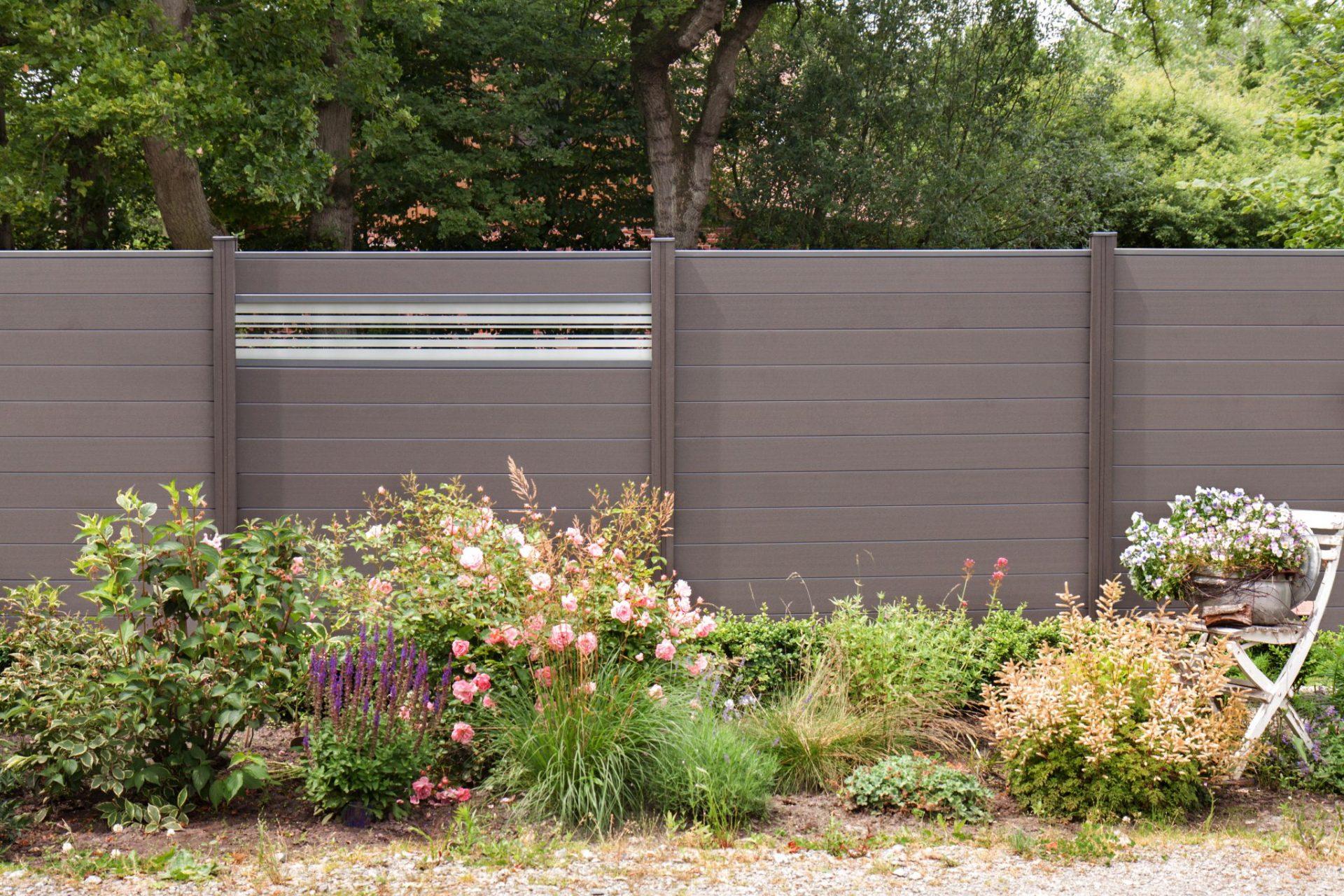 elegant steckzaun kunststoff einzigartige ideen zum sichtschutz. Black Bedroom Furniture Sets. Home Design Ideas