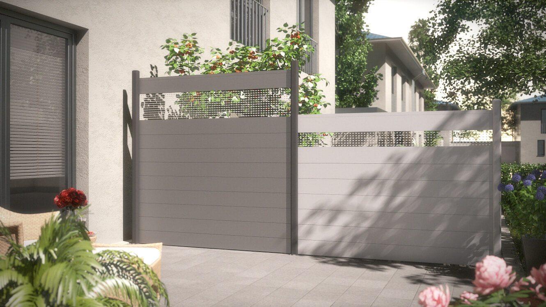 Aluminium Sichtschutz System Alu Classic bei gabione steinkorb