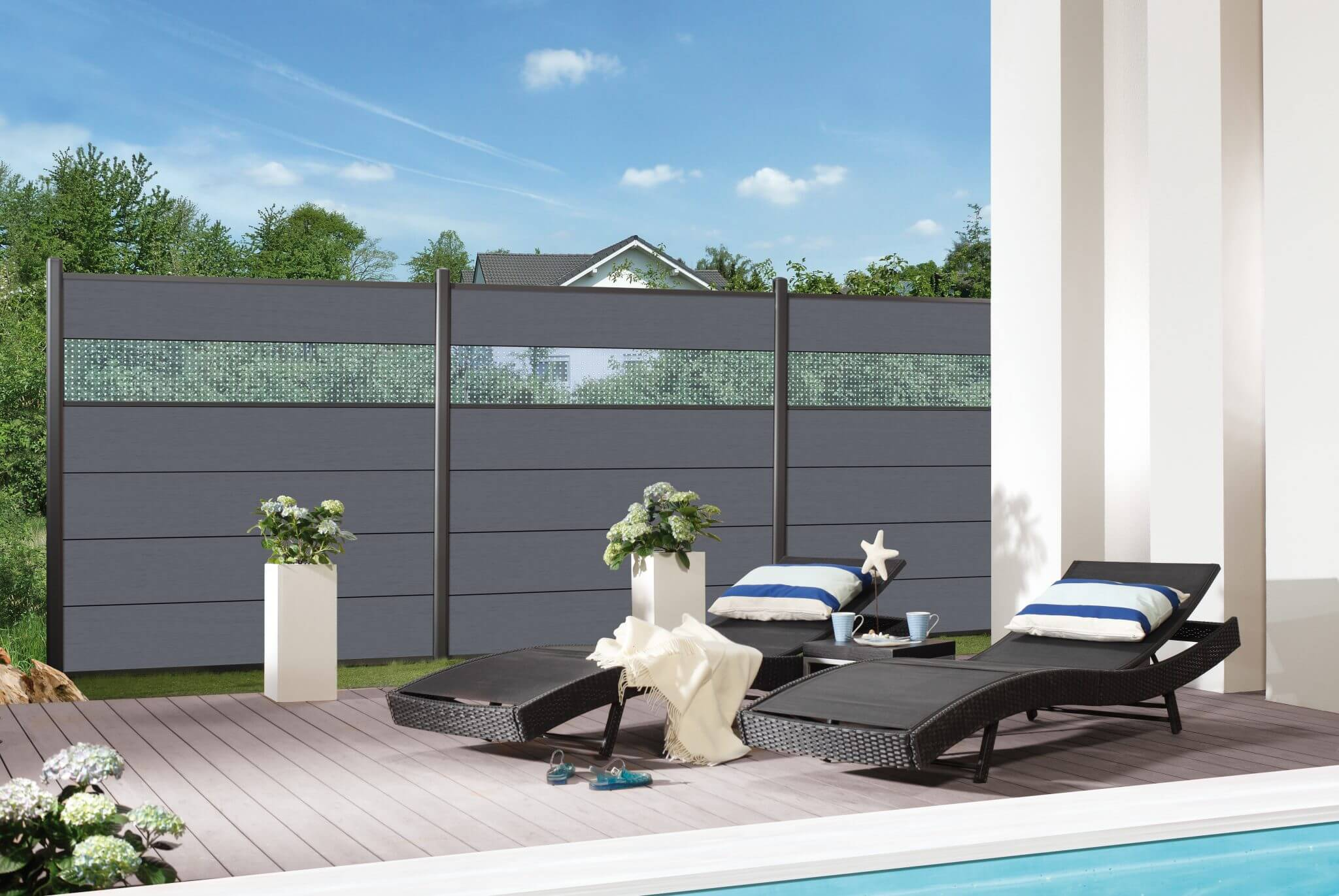 elegant sichtschutz terrasse wpc einzigartige ideen zum. Black Bedroom Furniture Sets. Home Design Ideas