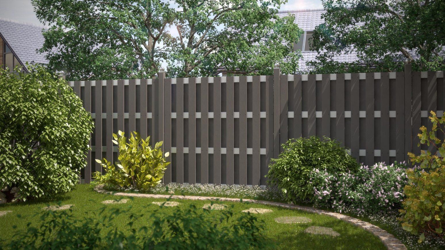 Sichtschutz Zaun Jumbo WPC 95x179 cm günstig gabione steinkorb