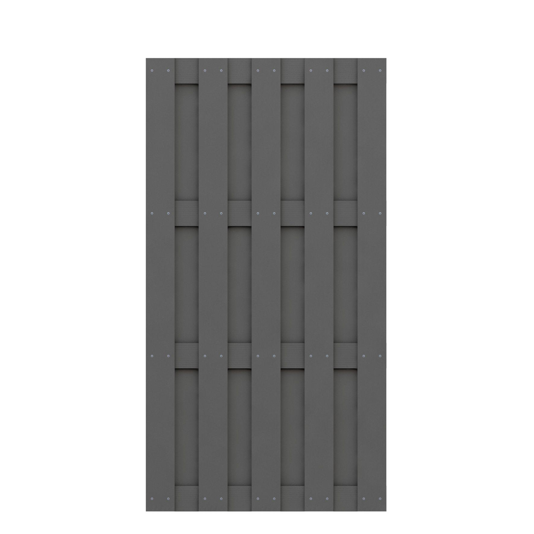 Traumgarten Jumbo Zaunfeld aus WPC 95x179 cm gabione steinkorb