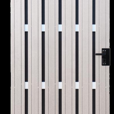 Sichtschutz Tor Bi-Color Weiss GroJa Solid DIN rechts