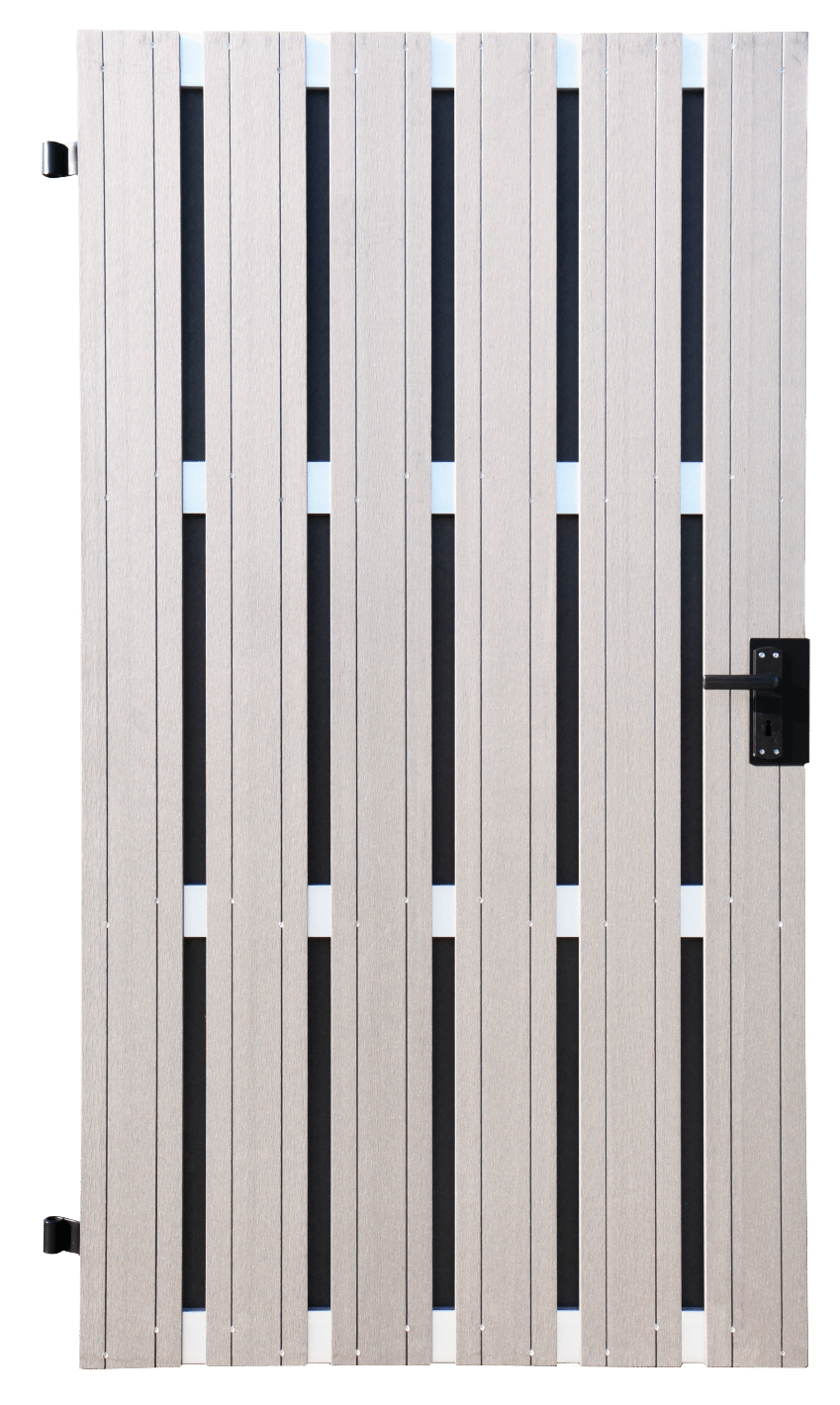Sichtschutz tor groja solid bpc din rechts 108 x 180 cm bi color weiß