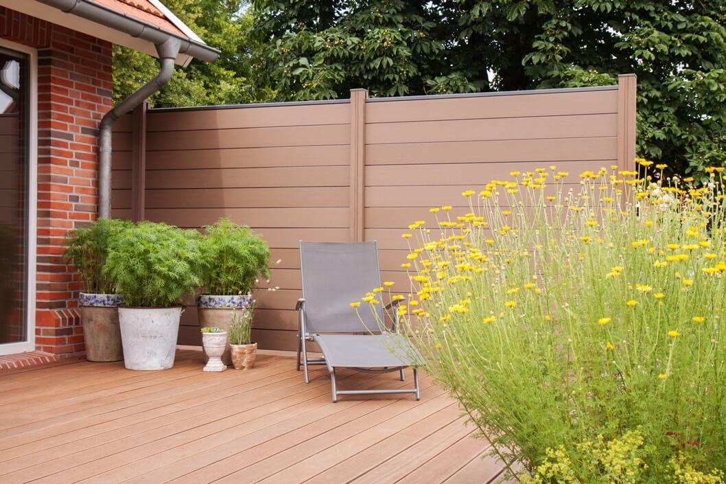 sichtschutzfeld groja solid steckzaun terra 180x180 jetzt hier kaufen. Black Bedroom Furniture Sets. Home Design Ideas