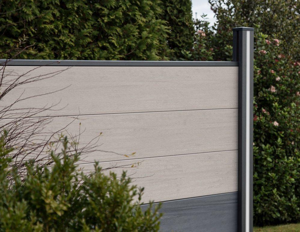 sichtschutz brett groja solid steckzaun bi color wei 180x180 cm g nstig. Black Bedroom Furniture Sets. Home Design Ideas