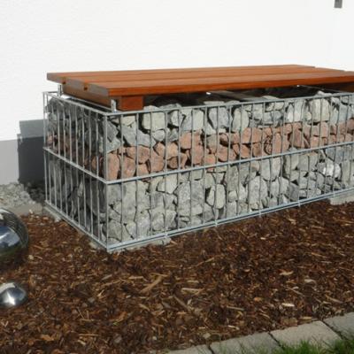 Gabione Bank - Sitzbank aus Gabionen - Gabionenbank - Bank aus Gabionen