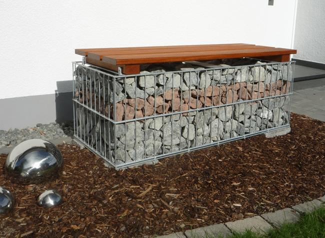 gabione bank geschwei t 1200 mm lang g nstig gabione. Black Bedroom Furniture Sets. Home Design Ideas